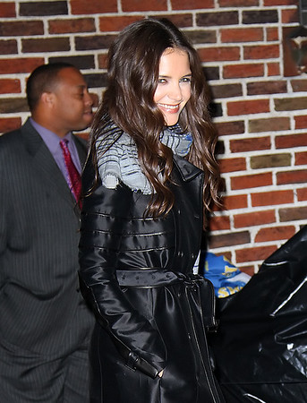 Non-Exclusive<br /> 2011 Nov 10 - Katie Holmes at David Letterman Show in NYC.  Photo Credit Jackson Lee