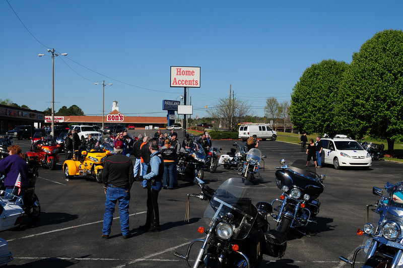 We had about 200 bikers by day's end.