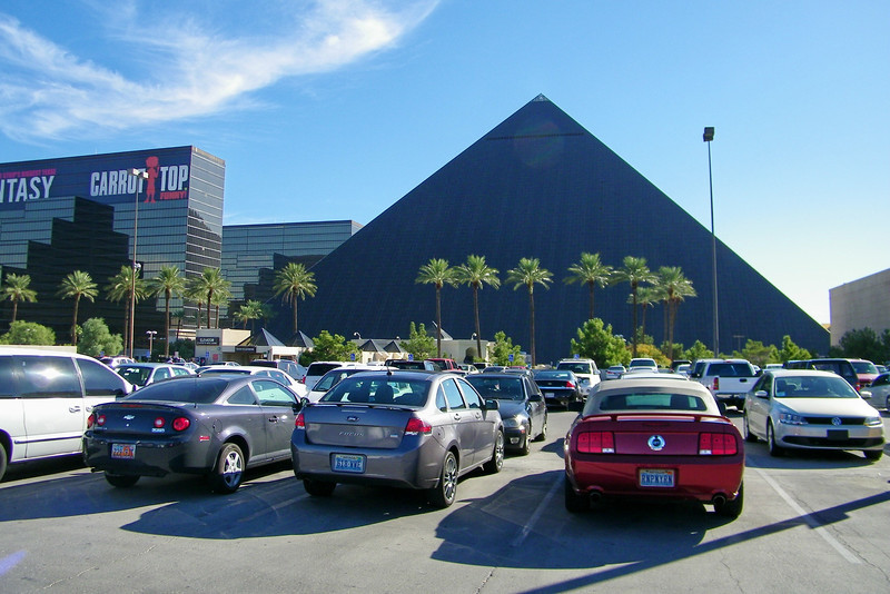 Stayed at the Luxor in Vegas.