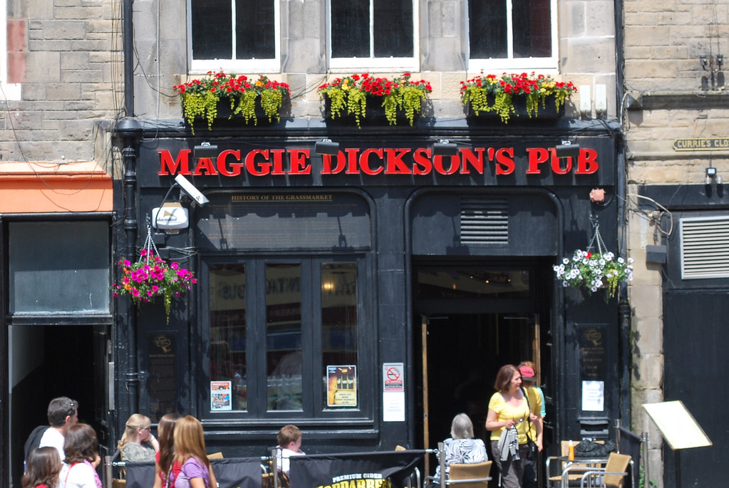 "A popular story in Edinburgh is that of Maggie Dickson, a fishwife from Musselburgh who was hanged in the Grassmarket in 1728 for murdering her own baby. After the hanging, her body was taken back to Musselburgh in a coffin. However, on the way there she awoke. Under Scots Law she had served her punishment. Only later were the words ""until dead"" added to the sentence of hanging. It was also to some extent seen as divine intervention, and so she was allowed to go free. In later life (and legend) she was thereafter referred to as Half-Hangit Maggie"