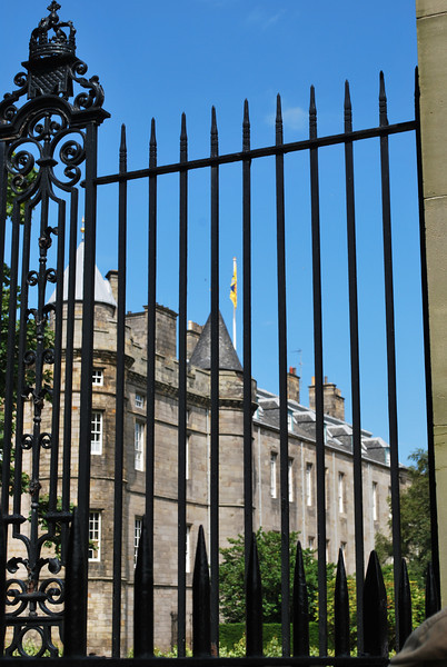 The flag flying atop the Palace indicates that the Queen is currently in Edinburgh.