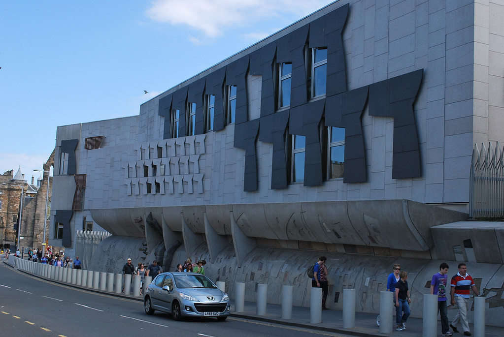 Hideous Scottish Parliament builidng.