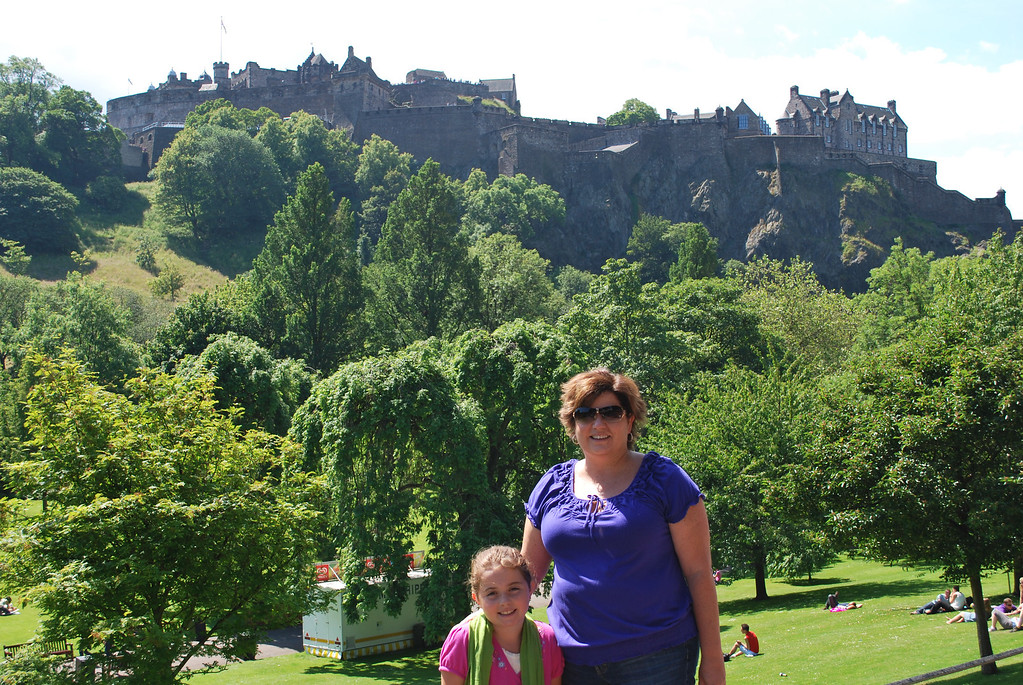 View of the Castle from Princes Gardens: Edinburgh, Scotland