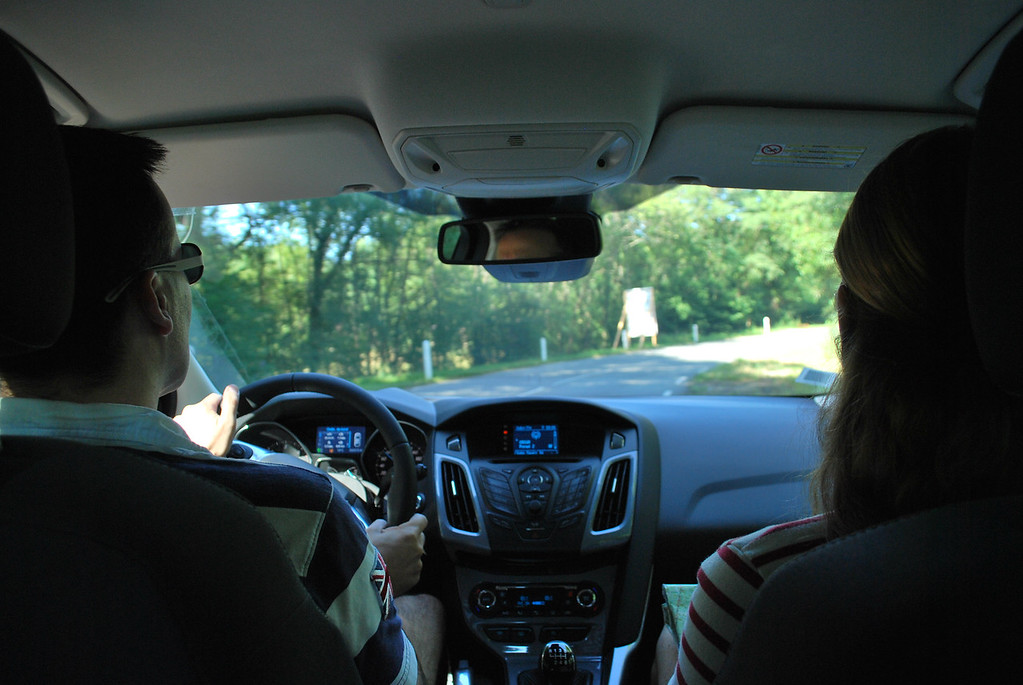 My chauffeur (Sean) and navigator (Caroline). Sitting in the backseat is dangerous on these curvy roads when Sean is at the wheel!