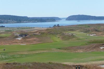 2011 July Tony Golfs at Chambers Bay