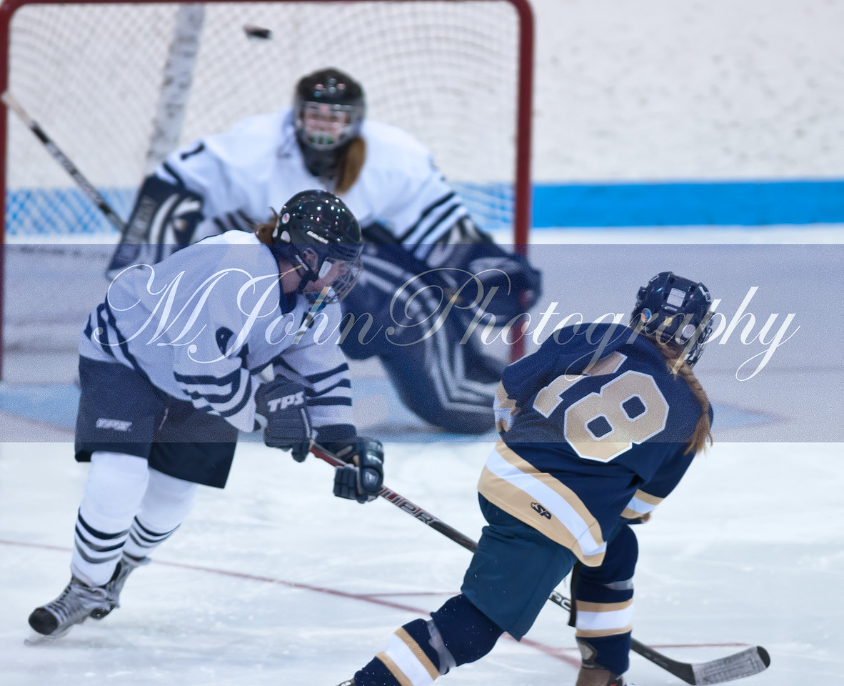 Midd shot on goal