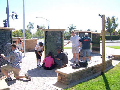 Volunteers gathered to do free name rubbings for Gold Star families who lost a loved one in Afghanistan or Iraq.