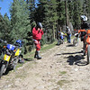 Took a break off of FR93, up in the Jemez.  Started to <br /> get a little warm.  Getting ready to ride into the town of<br /> Gallina, from FR103.