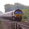 Everything is wrong with this picture the sun is not on the front its back light but as 66176 came over the brow of the hill at West Bank Hall it looked stunning for a 66!<br /> 66176 is approaching Linwith Lane level crossing with 6H34 1230 Immingham NCB1 - Drax Power Station loaded coal.