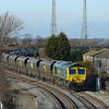 66585 waits at Hessle Road's No4 Signal untill a path is available on the Mainline for the train to proceed.