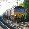 66011 is seen thundering up the ECML with 4K60 1800 Milford West Sdg's - Hatfield Main Colliery emptys coal working