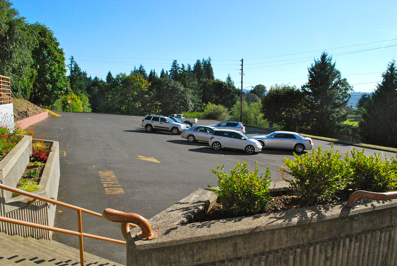 The parking lot at Kalama HS was much smaller than it looked in the film.