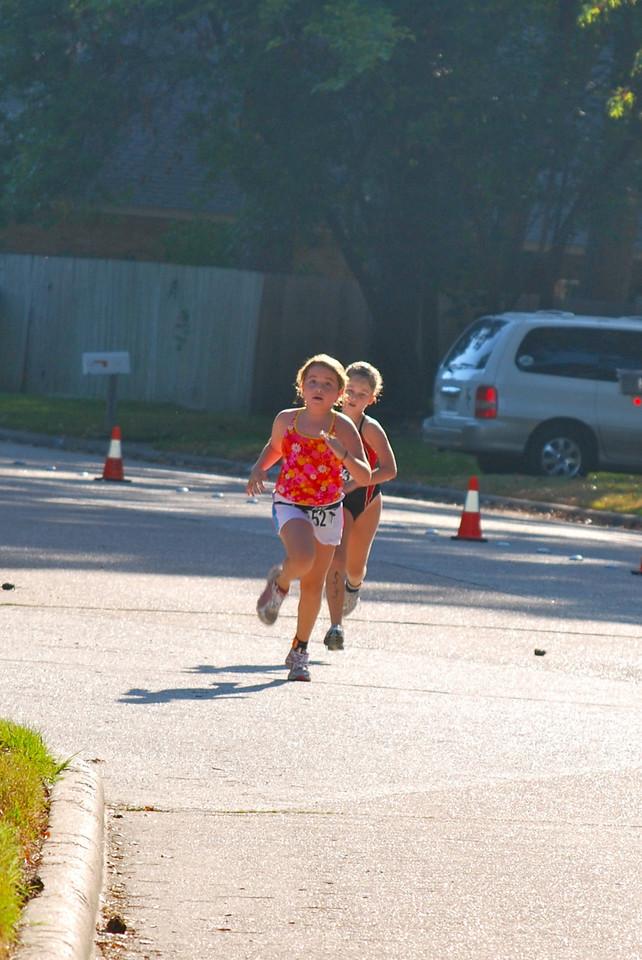 She's running!