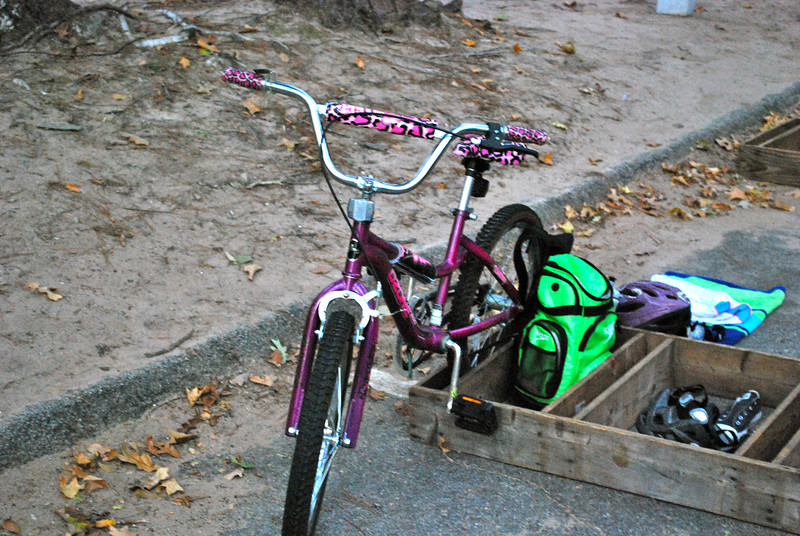Sabrina's Bike / Transition Station all set up and ready to go!
