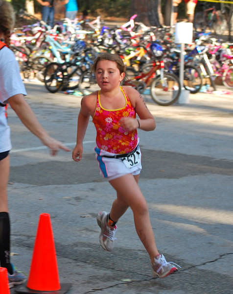 Sabrina heading out for the run.