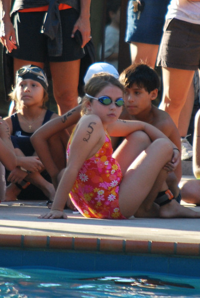 Sabrina waiting on deck with the other 9 yo girls.