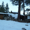 Remains of an old cabin along Hwy 108 in the Walker River area.