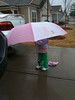 The umbrella's at Gramma's were big … never like to start a vacation with a rain-out.  Fear ensues of more icky weather …