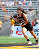 02 July 2011: Under Armour All-America North team midfielder Meg Douty (12) runs up field with the ball during the first half at the 2011 Under Armour All-America Lacrosse game played at Johnny Unitas Stadium in Towson, MD.