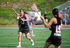 02 July 2011: Under Armour All-America North team midfielder Nicole Graziano (13) makes a pass to teammate attacker Kerri Fleishhacker (19) during the second half at the 2011 Under Armour All-America Lacrosse game played at Johnny Unitas Stadium in Towson, MD.