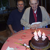 joint birthday celebrations - Chuck was 92 and Dave was 55