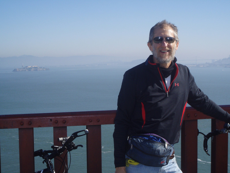 on the Golden Gate bridge, San Francisco