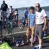 Jon and Toran at the youth triathlon