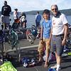 Jon and Toran at the youth triathlon
