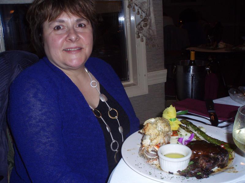 dinner at the Mendenhall Inn in Delaware