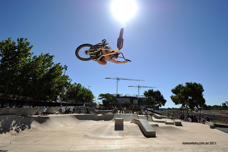 Collin Owning city park. yeah its high!