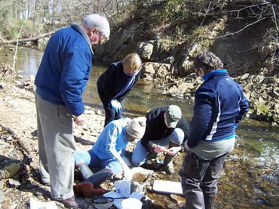 3.28.11 Water Quality Testing at Bascum Creek in Elkridge