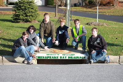 Nov. 2011 Josh Olivier--Eagle Scout Storm Drain Stenciling Project in the Grovemont Community in Elkridge