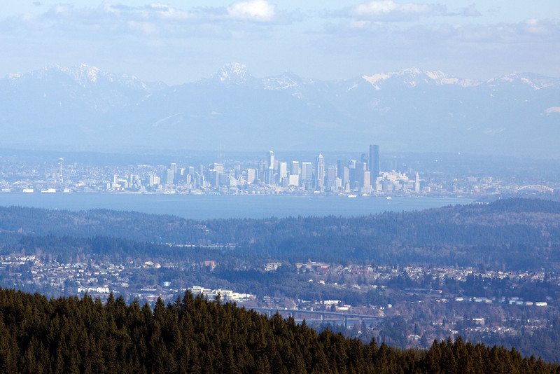 Seattle from Green Mountain.