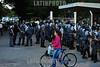 BRASIL (25 .11.2011) GREVE NA J&J COM FORTE REPRESSAO DA PM , ALGUNS ONIBUS QUE ESTAVAM VINDO EM COMBOIO APARECERAM COM PNEU FURADO AO LADO DO SHOPPING COLINAS EM SaO JOSE DOS CAMPOS - SP. A GREVE CONTINUA. ( After a strike marked by a great tension between the Chemists Syndicate, the employees and Military Police which has persisted during five days strike. / Brasilien : Einsatz der Militärpolizei während eines Streiks am 25.11.2011 bei Johnson & Johnson in Sao Jose dos Campos. © Lucas Lacaz Ruiz/LATINPHOTO.org