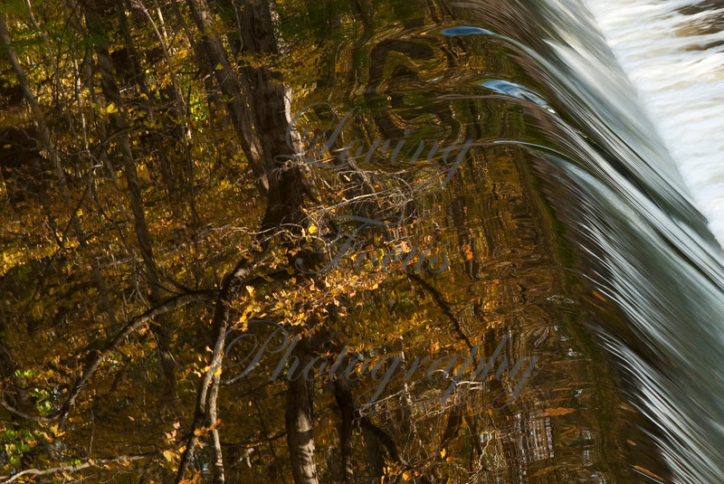 """""""Spillway, Fall Reflections"""" -- This image is inspired by Hiro Sugimura -- who taught me to see it and then capture it."""