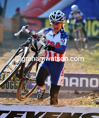 Amy Dombroski will take 26th place today...
