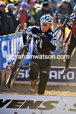 A rare Kiwi - Genevieve Whitson races in Sankt Wendel; she was lapped halfway through the event and placed 41st...