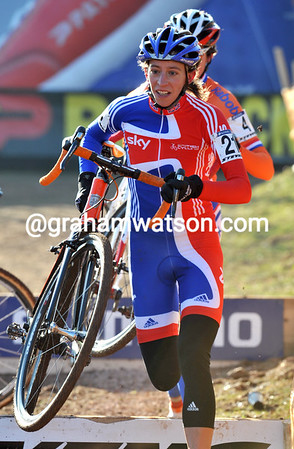 Helen Wyman is in with a chance to finish inside the top ten today...