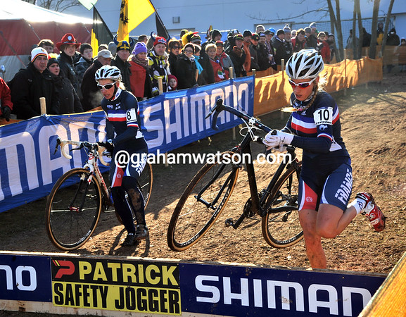 Gallic rivalry - Christel Ferrier-Bruneau and Pauline Ferrand Prevot compete for 7th & 8th places...