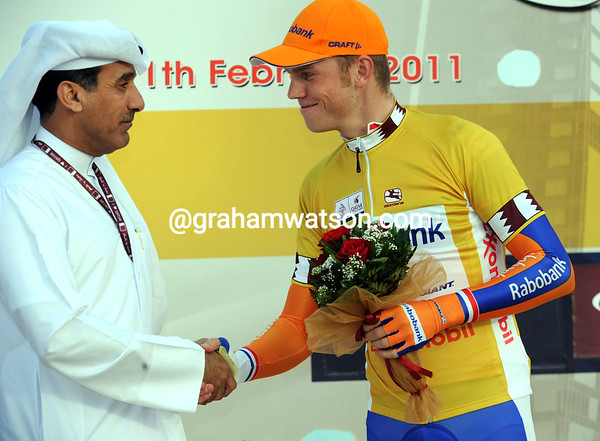 Lars Boom is the first race-leader of the 2011 Tour of Qatar - who's to say he won't win overall as well..?