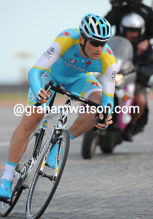Thomas Vaitkus took 9th place in his first race in Astana colours...