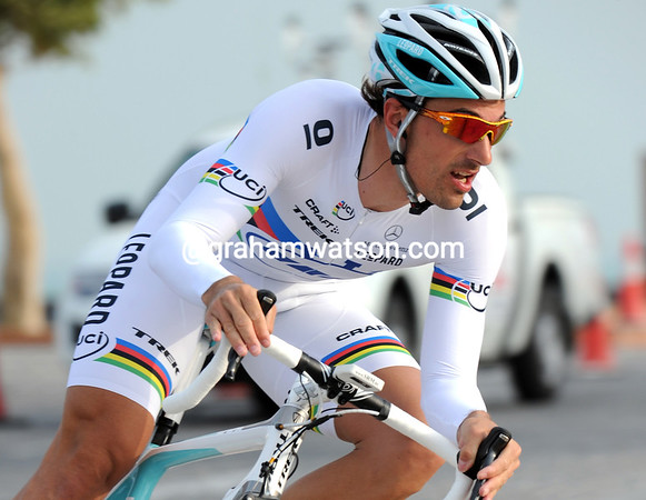 Fabian Cancellara raced to 2nd place on a course totally unsuited to his straight-line prowess...