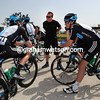 Team Sky seem to be scotching a plan today - let's eavesdrop on what Steven DeJongh is saying...