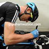 No radios? No worries - Ian Stannard is writing notes on a sticky plaster in anticipation of a big day coming his way...