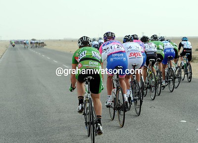 The renewed speeds have split the race again - and again it is the An Post-Sean Kelly riders who are most affected...