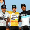 The final podium shows overall winner Mark Renshaw with runner-up Heinrich Haussler and Daniele Bennati - this exciting 2011 Tour of Qatar is over..!