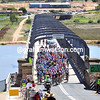 The Tour Down Under crosses the Murray River at Murray Bridge...