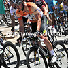 Matt Goss corners, looking forward to the day's expected sprint-finish and the chance to extend his race-lead...