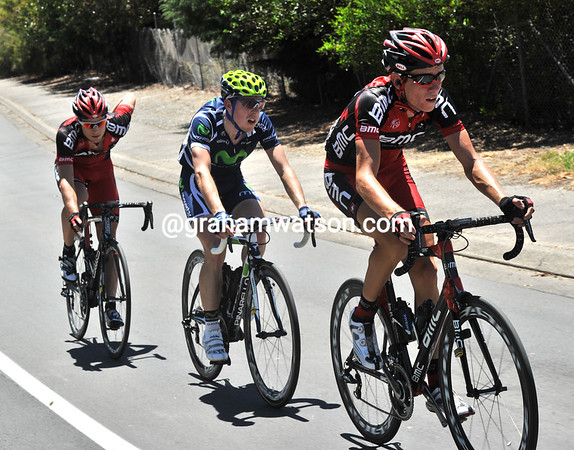BMC is again on the counter-attack today - Tim Roe leads Angel Madrazo and Martin Kohler, but they soon get caught by The Shack...