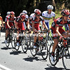 The wind and the chase is hurting everyone - BMC moves its riders up the side of the peloton...